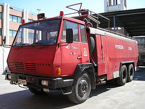 English: Vehicle of the Fire Service of Greece...