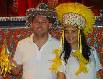 Prefeito Hernando e primeira dama Everuzia Macedo