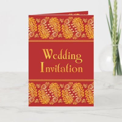 Indian Wedding Folded Card Invitation by all items