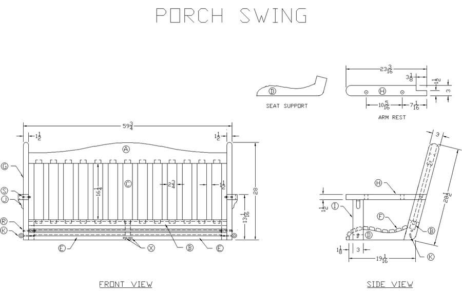 Woodworking Plans For Porch Swing Good Wood Joints Pdf