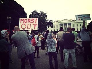 Morsi out at White House