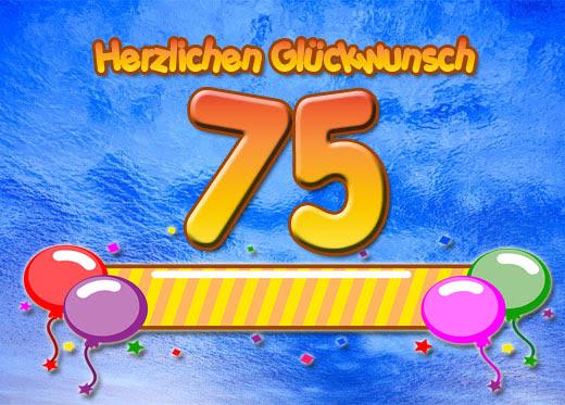 75 Geburtstag Glückwünsche Und Sprüche
