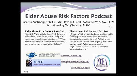 elder abuse risk factors podcast part
