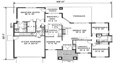 simple  story house floor plans open  story house