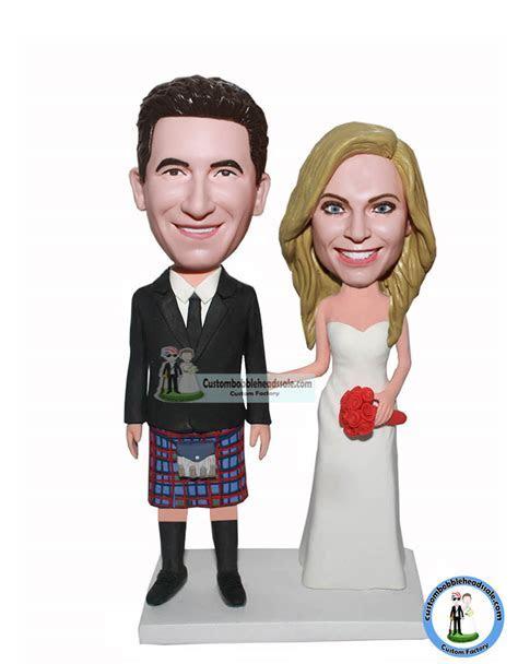 Cheap Custom Personalized Bobbleheads Wedding Kilt