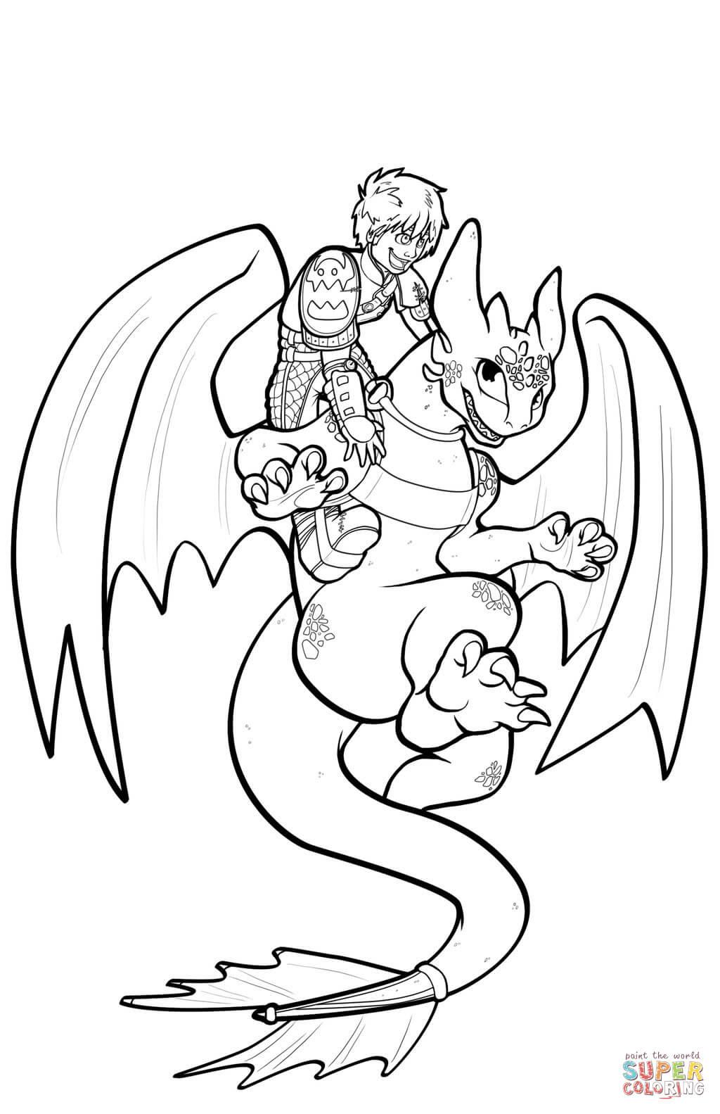 Coloriage Dragon Furie Nocturne Des Milliers De Coloriage