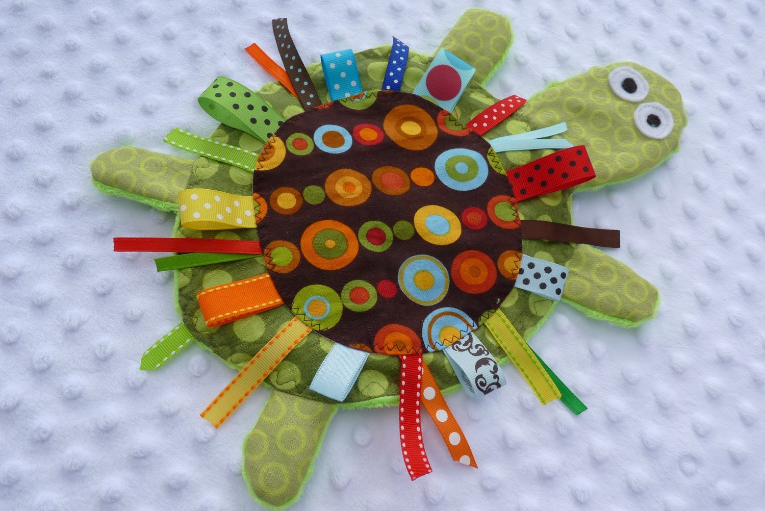 Yertle the Turtle- GREEN or PINK -Crinkle Crackle Sensory toy- Please read note before buying