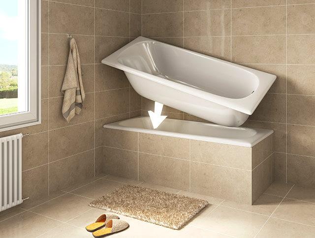 Sovrapposizione vasca da bagno Remail