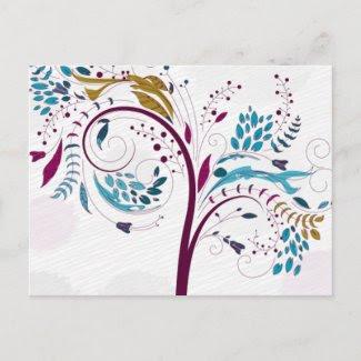 Spring Trees postcard