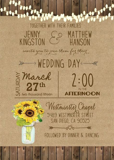 Unique wedding invitations! A great fit for any outdoor