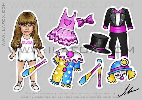 lembrancinha imã original festa infantil, temática circo, palhaço, bailarina e mágico by ila fox