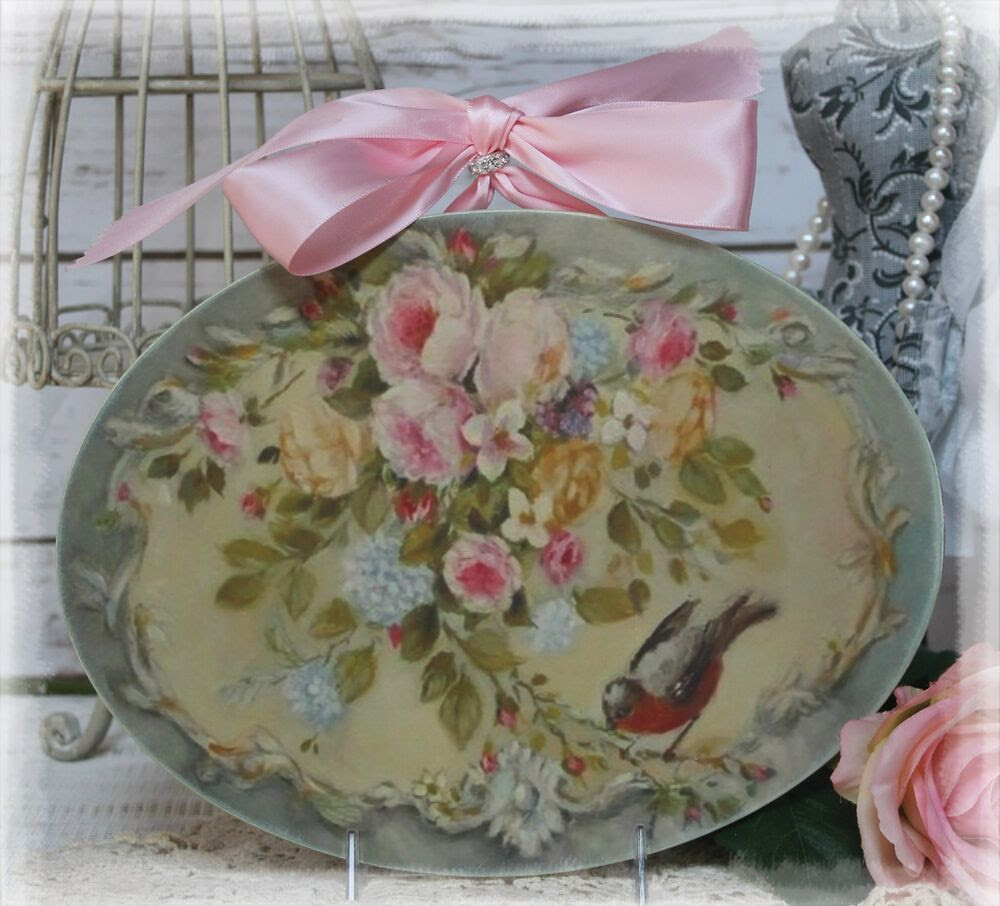 """NEW! """"Roses..."""" Vintage~Shabby Chic~Country Cottage style ..."""