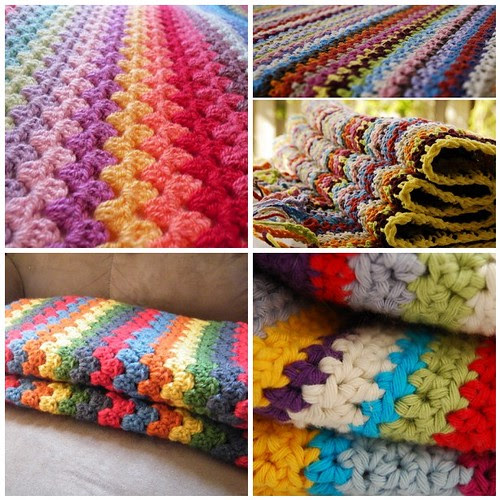 crocheted stripes
