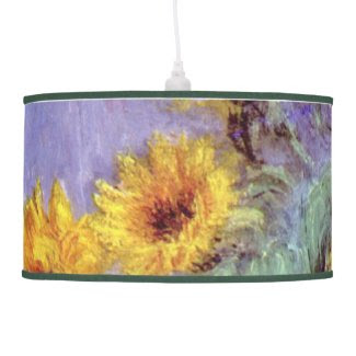 Bouquet of Sunflowers, Monet, Vintage Flowers Art Lamps