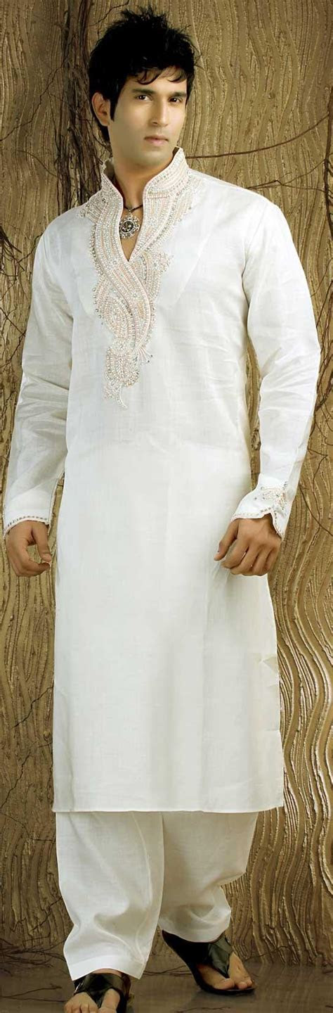 Off White Linen Kurta Pajama for Men's (NMK 481)   men's