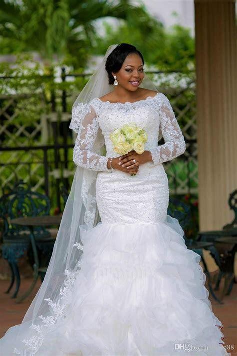 New Fashion 2016 Vestido De Noiva Plus Size Boat Neck Lace