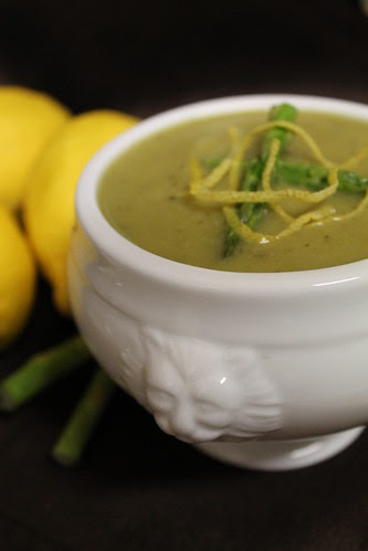 Roasted Asparagus & Potato Soup
