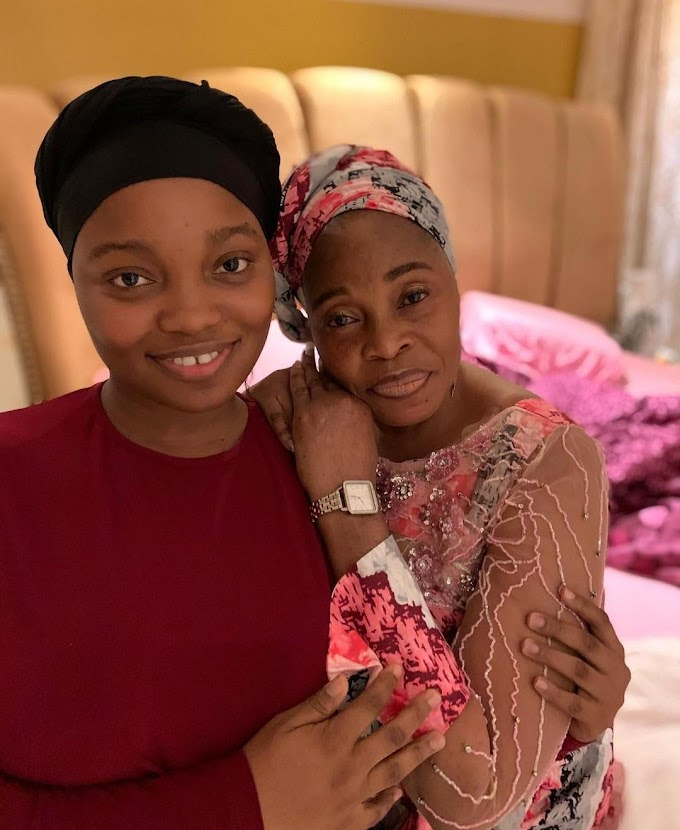 Tope Alabi's daughter, Ayomikun reacts as another man claims to be her biological father