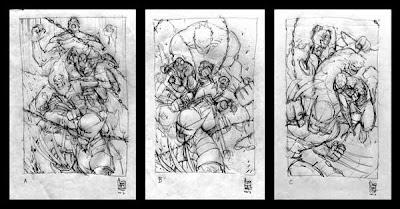 Sequenza di sketches by Giuseppe Camuncoli