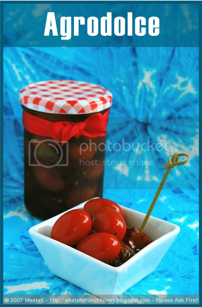 Tomatoes in Agrodolce (03) by MeetaK
