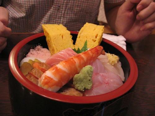 Lunch in Sushi restaurant