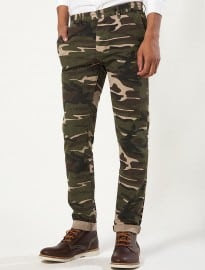 Topman Camouflage Skinny Chinos