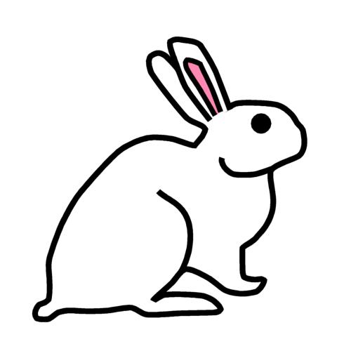 ウサギの無料イラストオーフリー写真素材