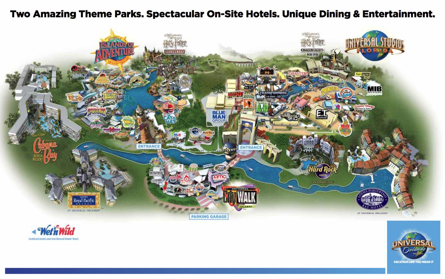 Orlando Studios Florida Map