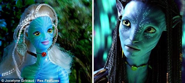 Barbie Blockbuster: A boneca de plástico, foi transformado em Neytiri, o personagem principal do filme de sucesso de James Cameron 3D filme Avatar