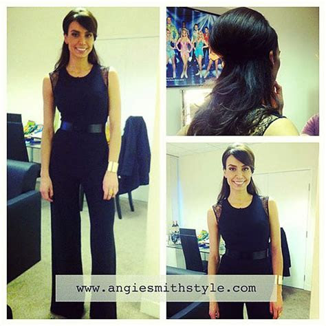 Christine Bleakley Dancing on Ice Black Jumpsuit