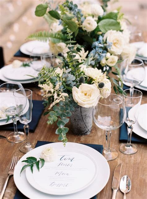 17 Best ideas about Navy Wedding Centerpieces on Pinterest