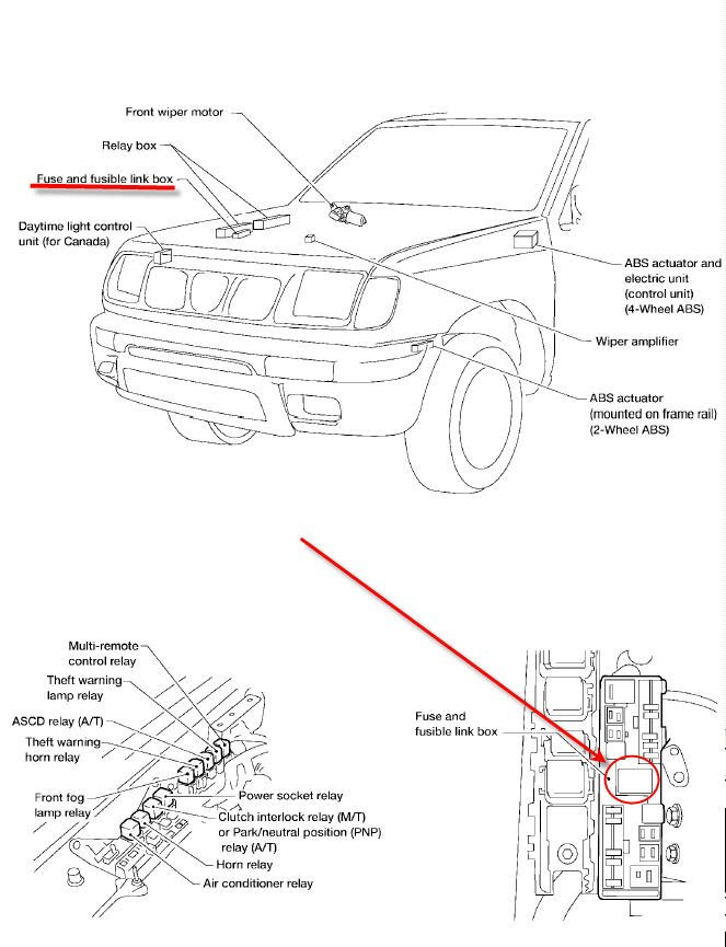 1998 Nissan Frontier Fuse Diagram