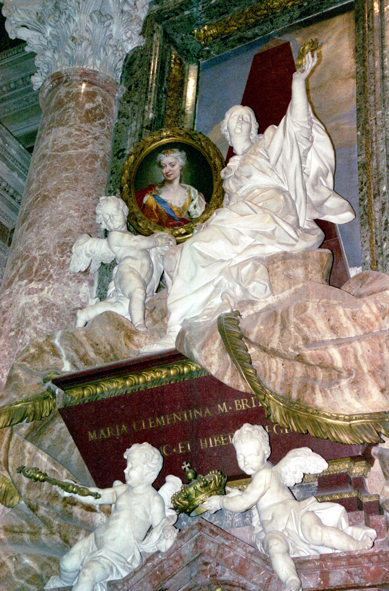 Vatican monument for Queen Maria Clementina