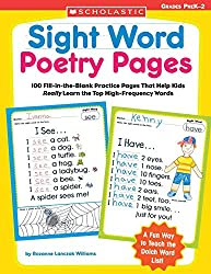 Learn sight words with poetry pages