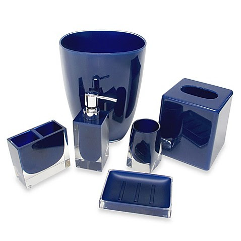 Memphis Bathroom  Accessories  in Nautical Blue  www