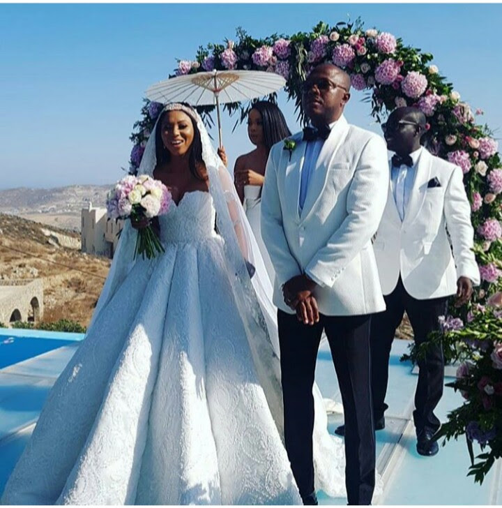 Stephanie Coker and husband Olumide Aderinokun celebrate their 1st wedding anniversary