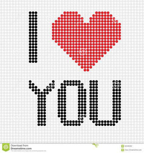 I Love You Dots Stock Vector   Image: 62348462