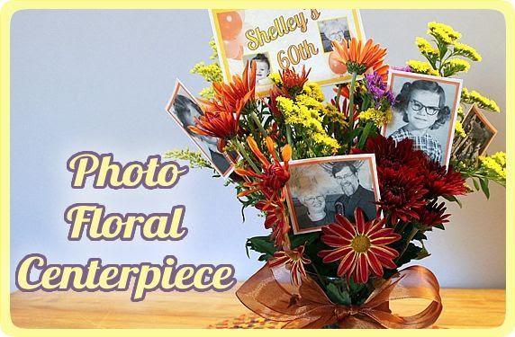 Make A Photo Floral Centerpiece
