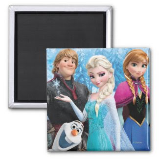 Frozen Group Fridge Magnet