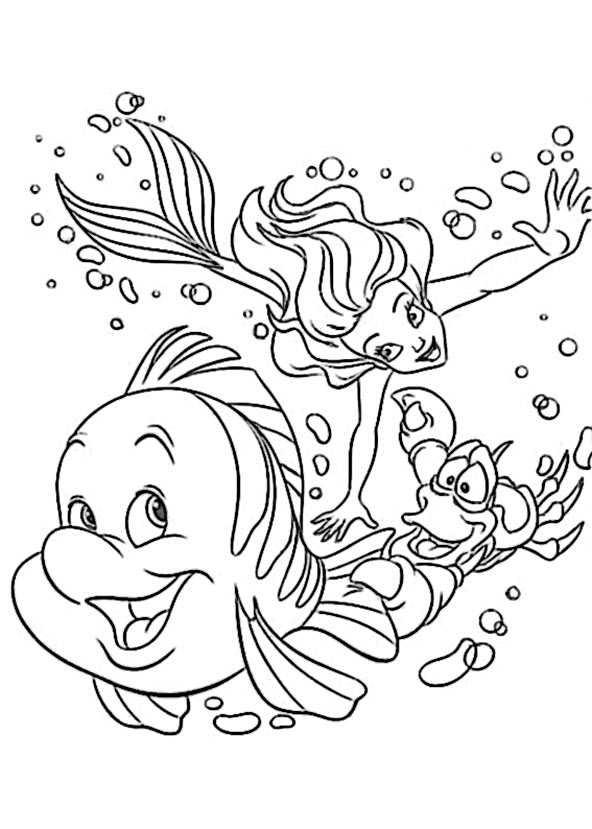 arielle die meerjungfrau ausmalbilder kostenlos