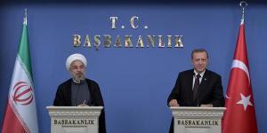 Recep Tayyip Erdoğan con l'ayatollah Hasan Ruhani