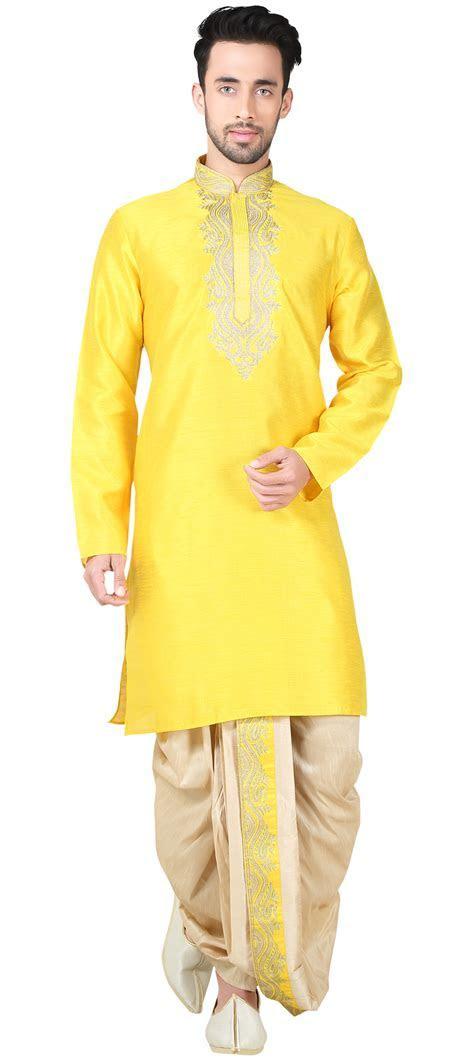 505919: Yellow color family stitched Dhoti Kurta