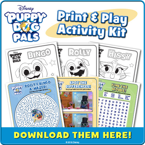 Download Puppy Dog Pals Activity Pages