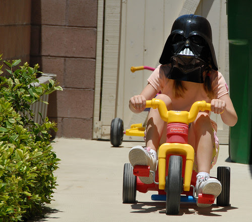 vader on a tricycle