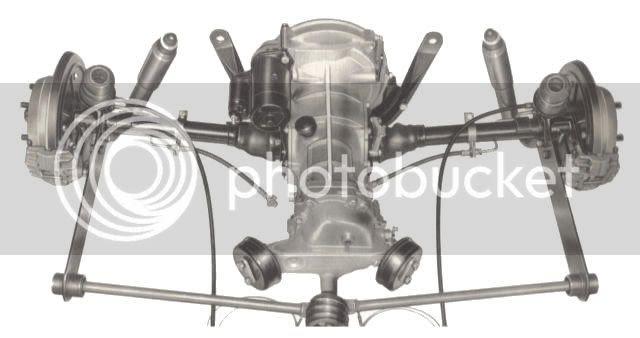 vw beetle rear suspension diagram