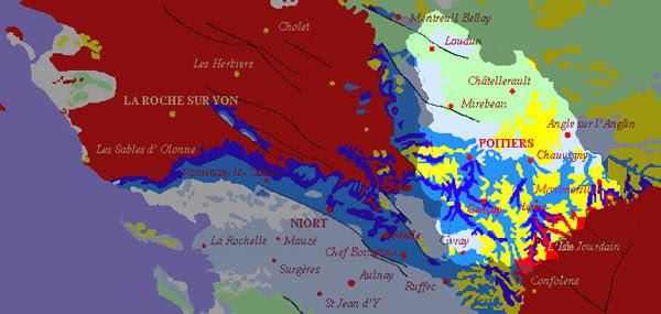 Carte Géologique 86 Sfo Société Française Dorchidophilie