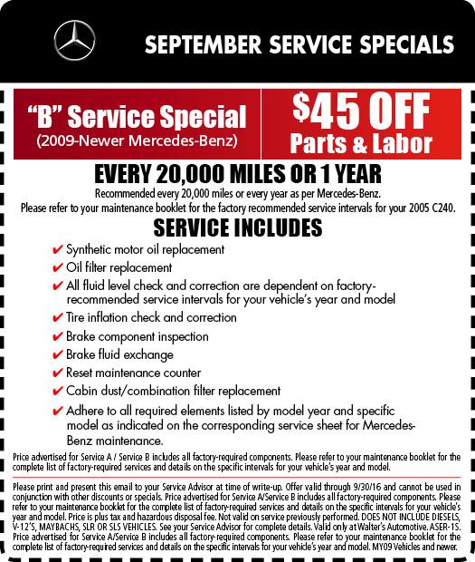 Mercedes-Benz Service Specials | Auto Repair in Riverside