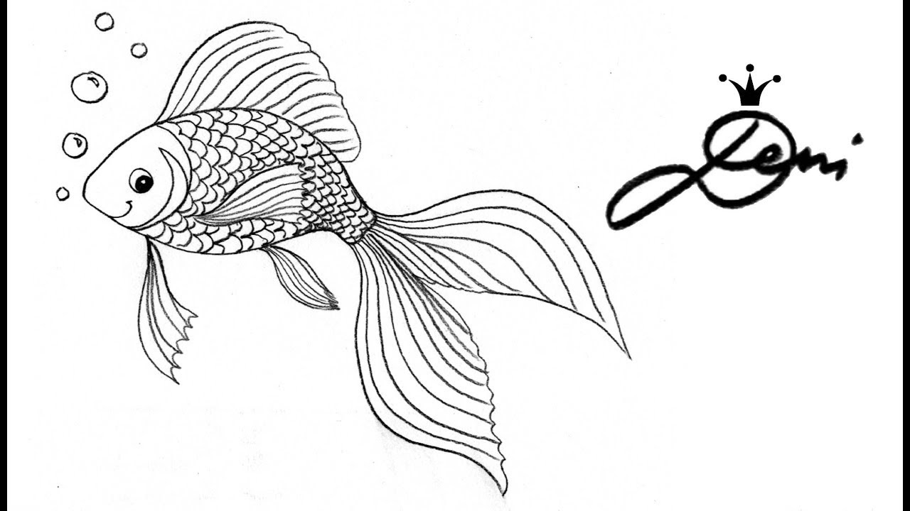 malvorlage fisch zeichnen einfach