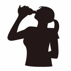 水分補給シルエット イラストの無料ダウンロードサイトシルエットac