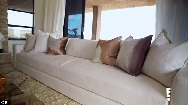 Huge couch: A 12-foot long Homenature couch was specially designed for Jenner